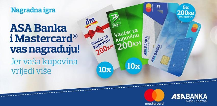 ASA Banka i MasterCard® nagradna igra: Jer vaša kupovina vrijedi više