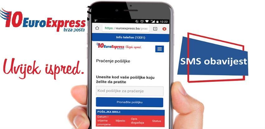 EuroExpress: Nova usluga SMS obavještenja