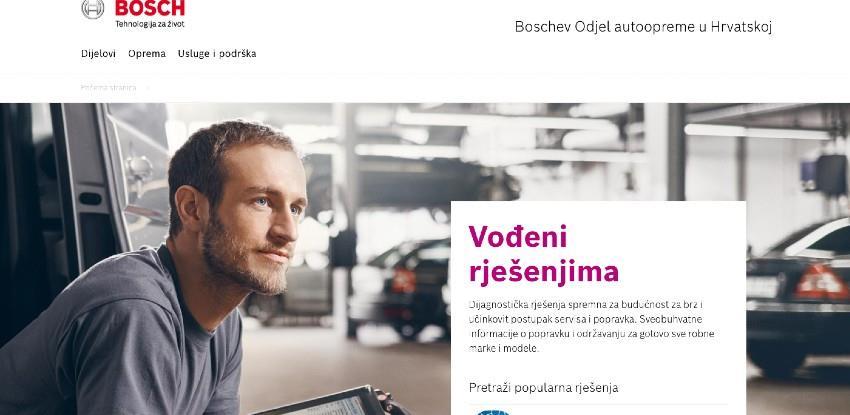 Boschev Odjel autoopreme objavio nove internetske stranice za dijelove i opremu