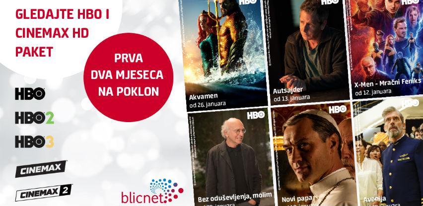 Promotivna ponuda u Blicnetu - HBO i Cinemax paket prva dva mjeseca na poklon