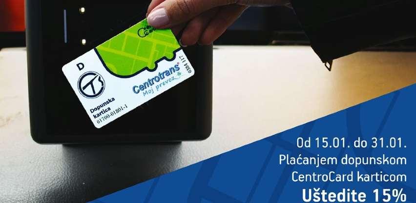 Danas i sutra imate mogućnost da uštedite 15% plaćajući sa CentroCard karticom