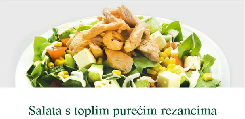 Salata s toplim purećim rezancima