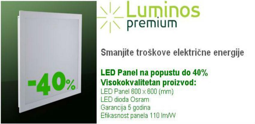 Luminos popust do 40% - Smanjite troškove električne energije