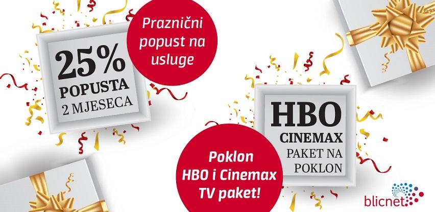 U Blicnetu praznični popust na usluge i poklon HBO i Cinemax TV paket
