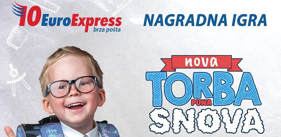 """EuroExpress nagradna igra u susret školskoj godini: """"Nova torba puna snova"""""""