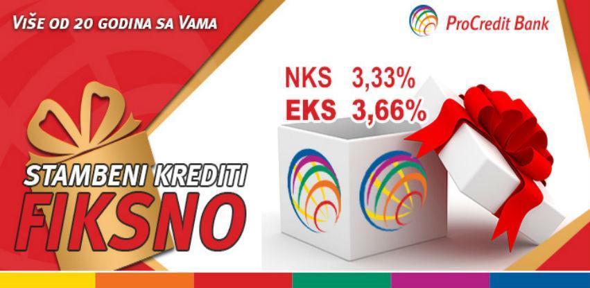 ProCredit Bank plasirala stambene kredite po nominalnoj kamatnoj stopi od 3,33%