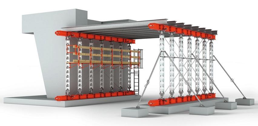 HD 200 - podupirač za opterećenja do 200 kN s montažom bez alata