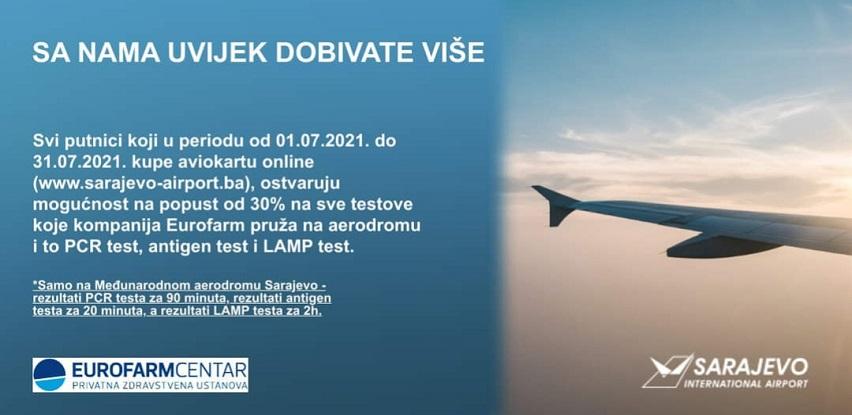 Međunarodni aerodrom Sarajevo i Eurofarm: Nove pogodnosti za putnike!
