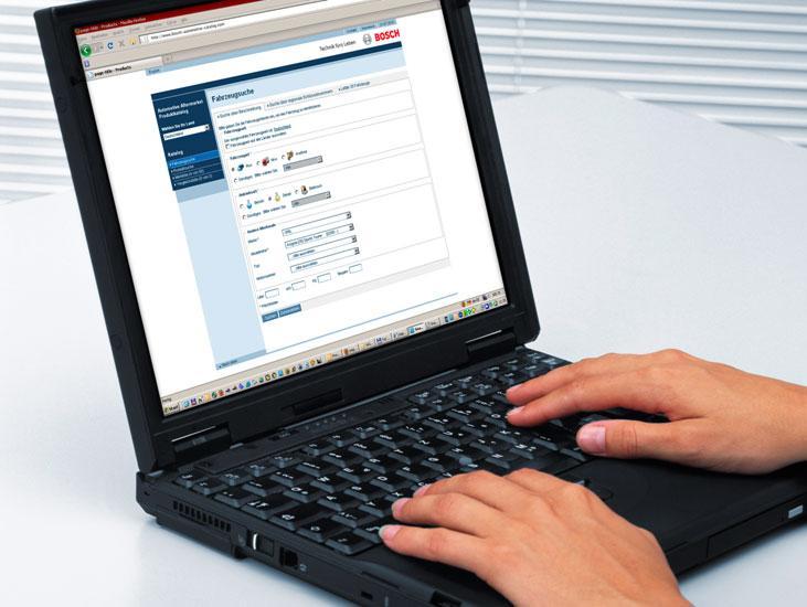Bosch internetski katalog: Pristup s bilo koje lokacije u svijetu