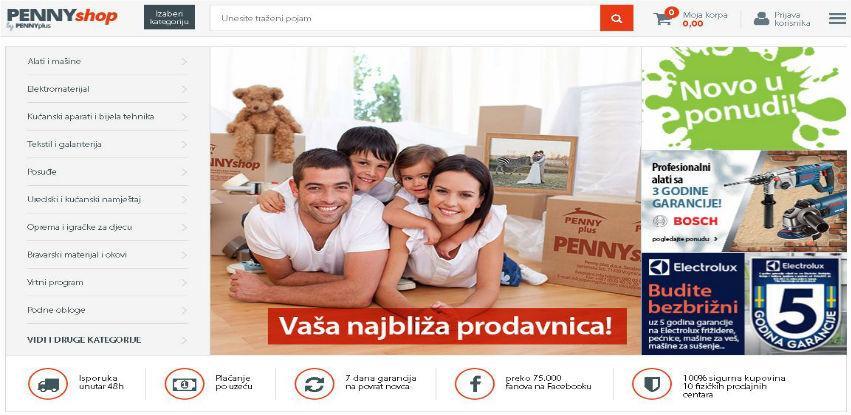 Obavite kupovinu iz udobnosti Vašeg doma sa PENNYshop.ba