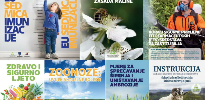 Informativni materijali INZ-a o sigurnijem ljetu, vakcinama, bolestima bilja...