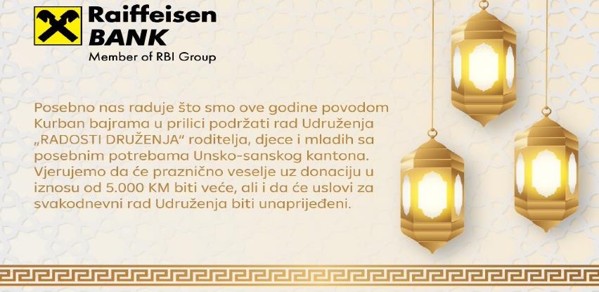 """Podrška Raiffeisen banke udruženju """"Radosti druženja"""" iz Bihaća"""
