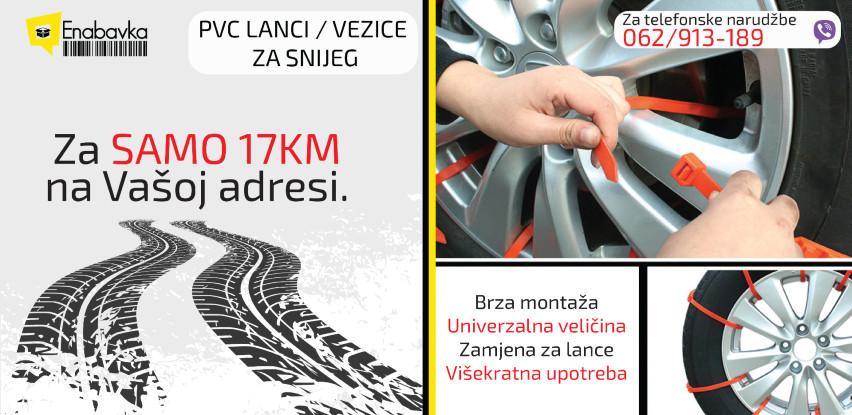 Zimska auto oprema vam je neophodna: Odaberite PVC Vezice/lance za snijeg!