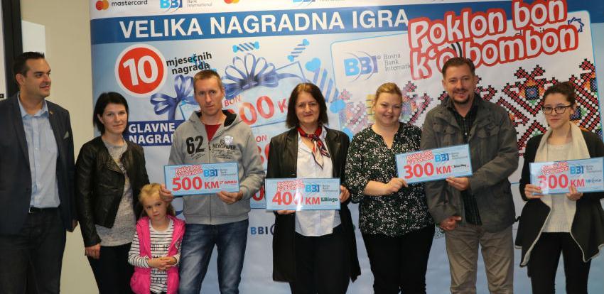 Drugi krug nagradne igre BBI Banke i Mastercarda: Dobitnici iz cijele BiH