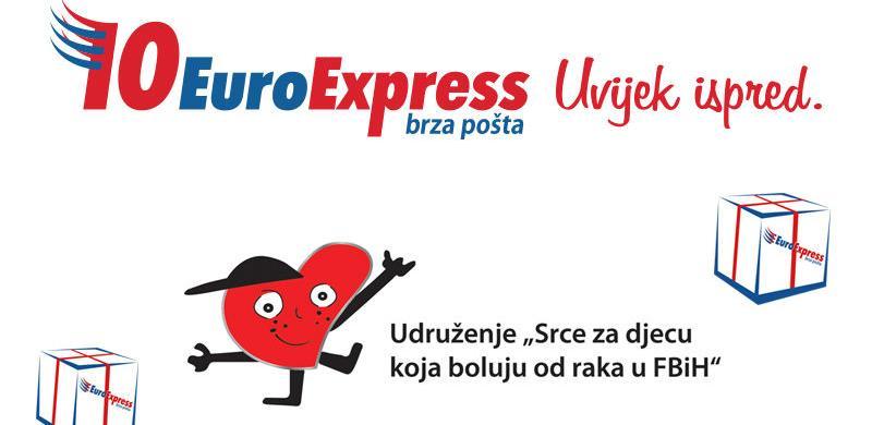 """Kompanija EuroExpress pomaže Udruženje """"Srce za djecu koja boluju od raka"""""""