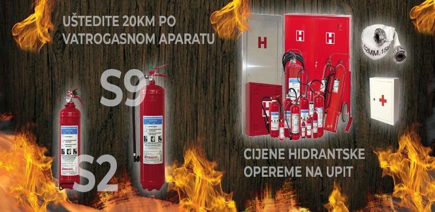Velika akcija vatrogasnih aparata - Uštedite 20 KM po vatrogasnom aparatu