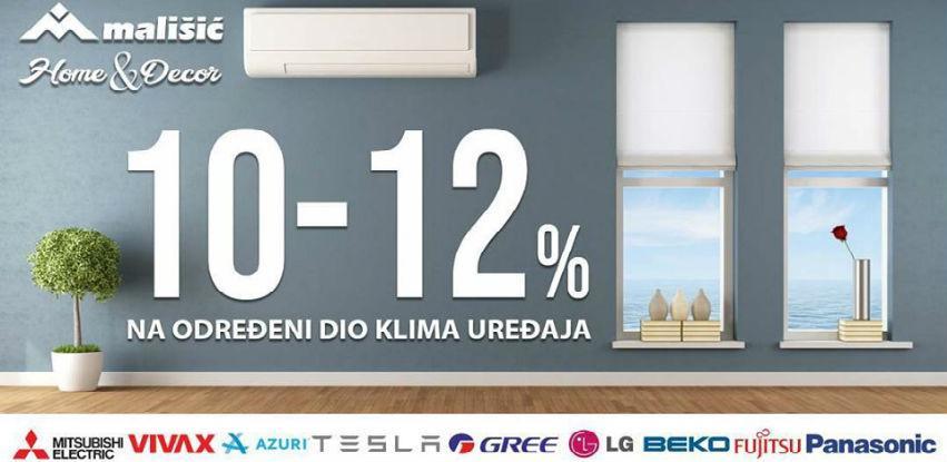 10-12% Na određeni dio klima uređaja