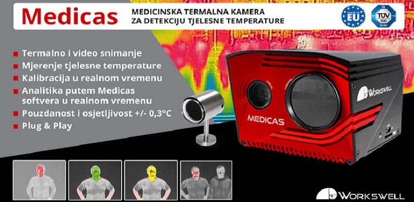 Skeniranje tjelesne temperature putem Medicas Sistema