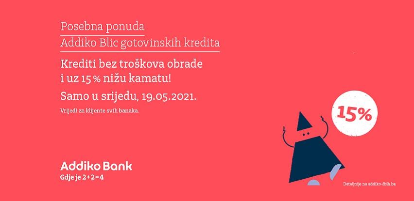 Ugovorite gotovinski kredit uz 15% nižu kamatu u Addiko Bank Sarajevo