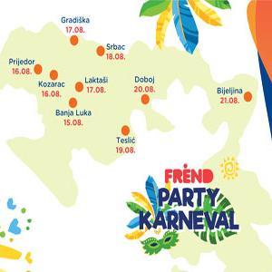 Kompanija m:tel i Frend Party karneval na kupalištima i bazenima