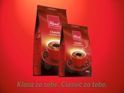 Isprobajte novi okus Franck Classic mljevene kafe!