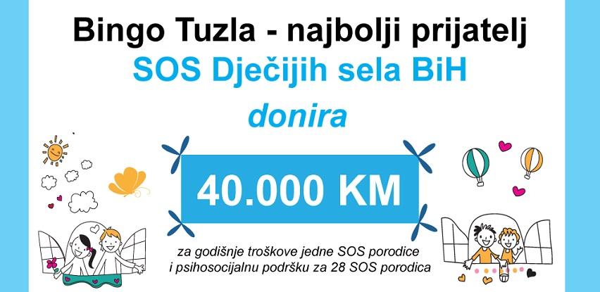 Kompanija Bingo Tuzla sedmu godinu podržava SOS Dječija sela BiH