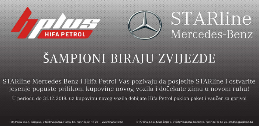 STARLine Mercedes-Benz i Hifa Petrol jesenja akcija!