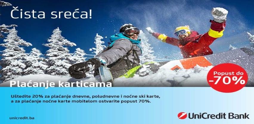 Popusti na ski karte sa UniCredit karticama i mobilnim bankarstvom