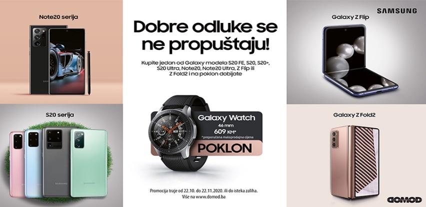 Kupi Samsung telefon i dobijaš na poklon Galaxy Watch