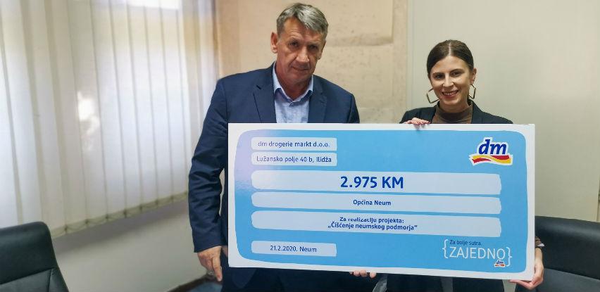 Općni Neum dm uručio donaciju za čišćenje neumskog podmorja