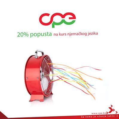 CPE - 20% popusta u ovoj sedmici na sve kurseve njemačkog jezika