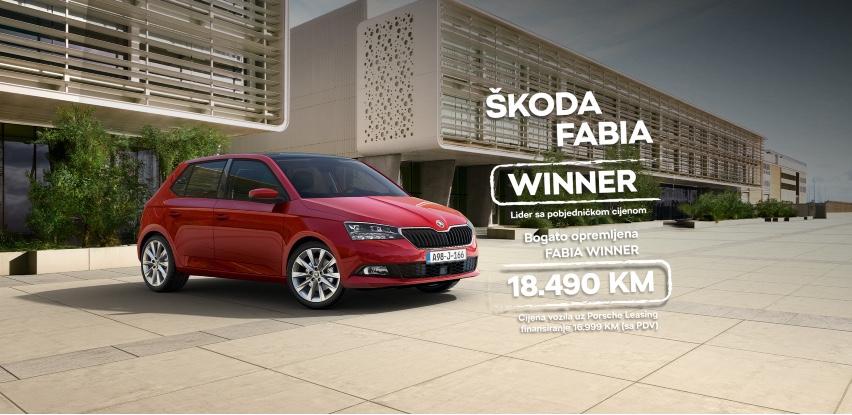 Pobjedničke cijene se nastavljaju uz FABIA Winner kampanju