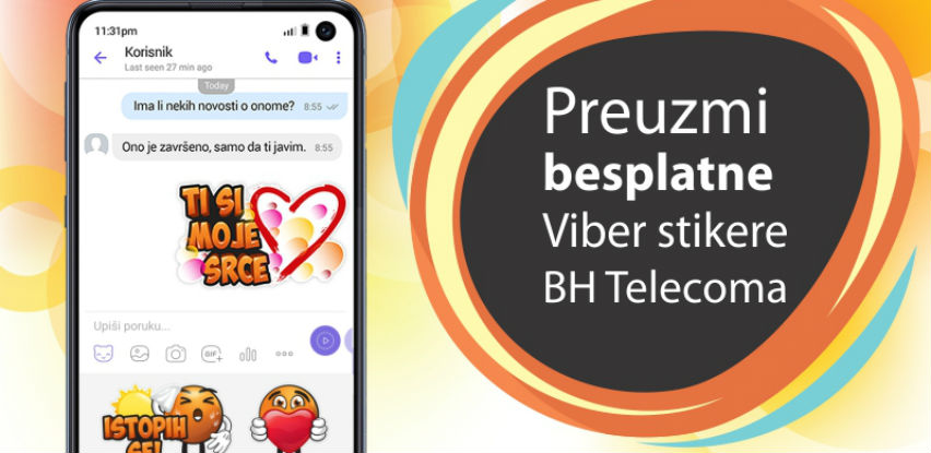 Furaj svoj film - Preuzmi besplatne Viber stikere BH Telecoma