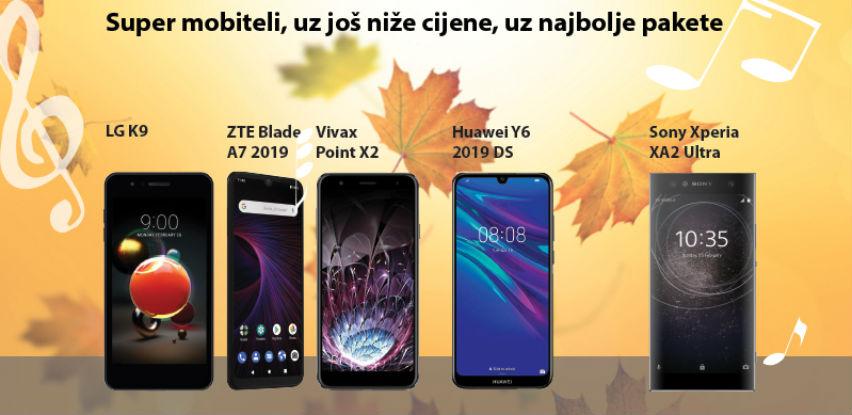 Hitovi jeseni - super mobiteli, uz još niže cijene, uz najbolje pakete!