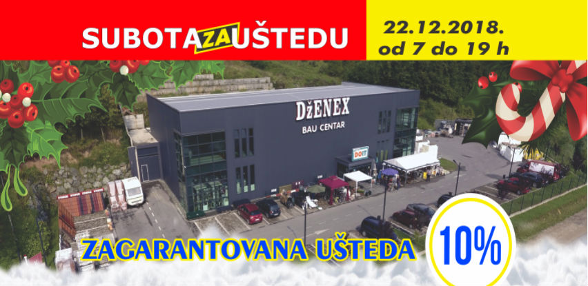 Praznična čarolija sa uštedom u Dženex Bau Centru Šićki Brod