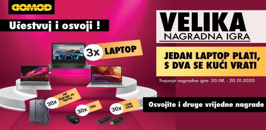 Domod nagradna igra - Jedan laptop plati, sa dva se kući vrati!