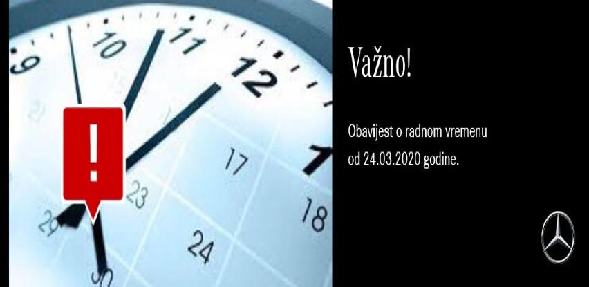 Obavijest o radnom vremenu od 24.03.2020 godine u Starline-u