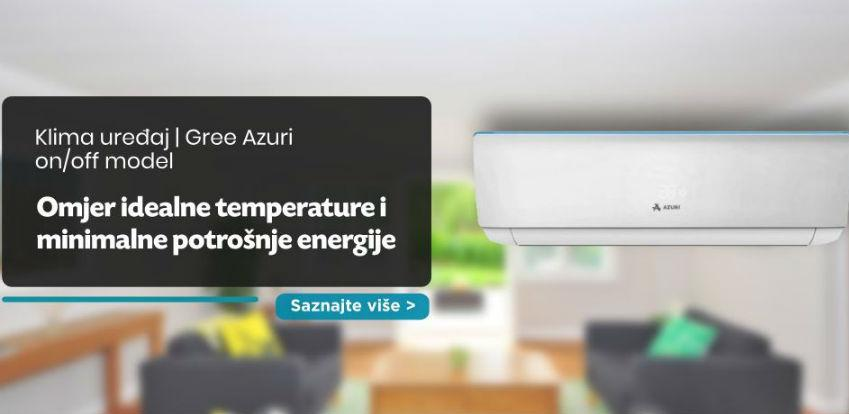 Klime Gree Azuri - omjer idealne temperature i minimalne potrošnje energije
