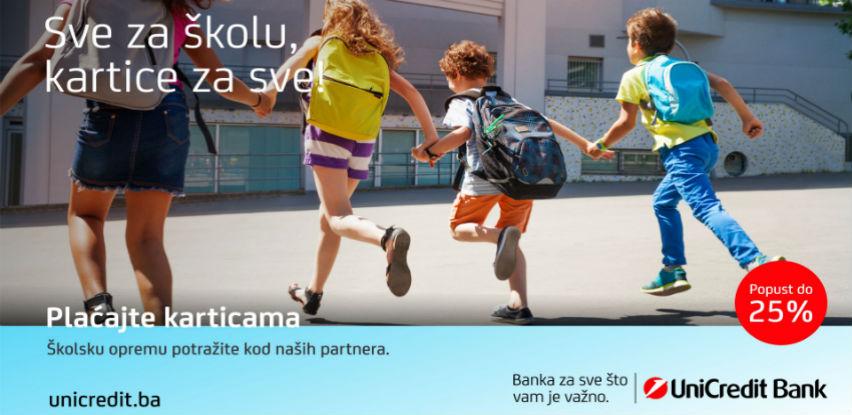 Popusti za školarce uz plaćanje karticama UniCredit Bank