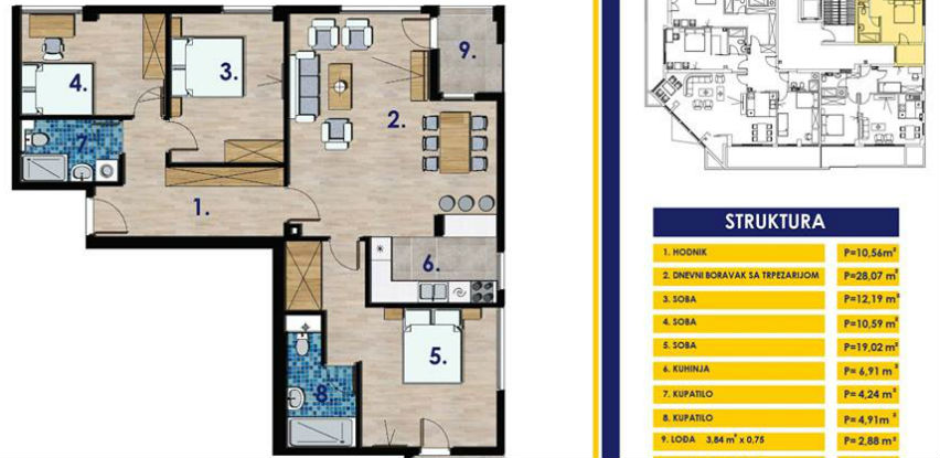 Prodaja stanova - Četvorosoban stan 102,48m2, Nova Varoš