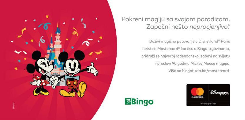 Putujte u Disneyland®Paris sa Bingom i kompanijom Mastercard