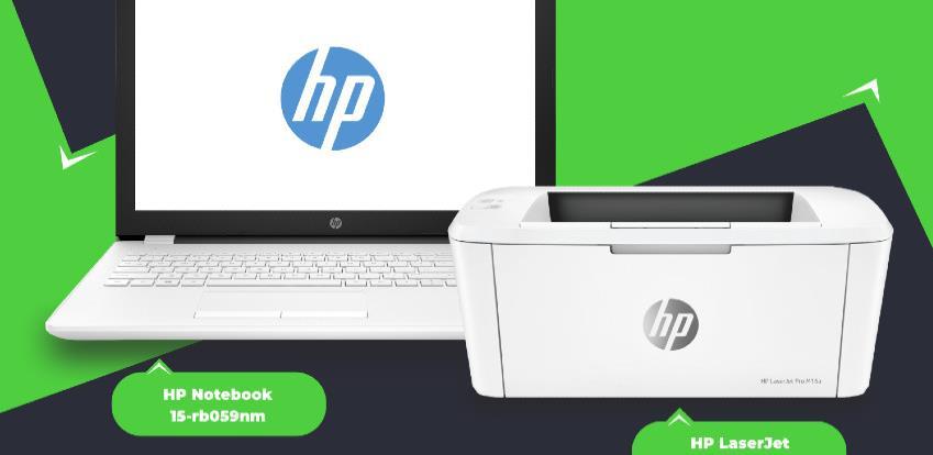Savršen par za uspješan rad: HP Notebook 15-rb059nm I HP LaserJet Pro M15a