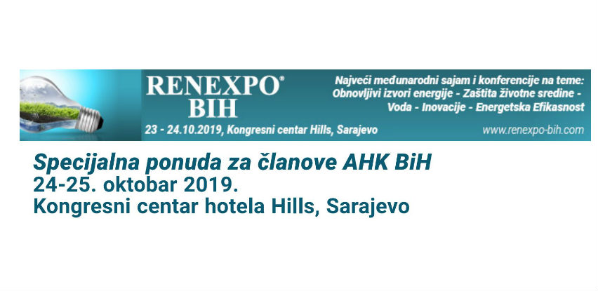 """RENEXPO® BiH"" 24. - 25. oktobar 2019. godine"