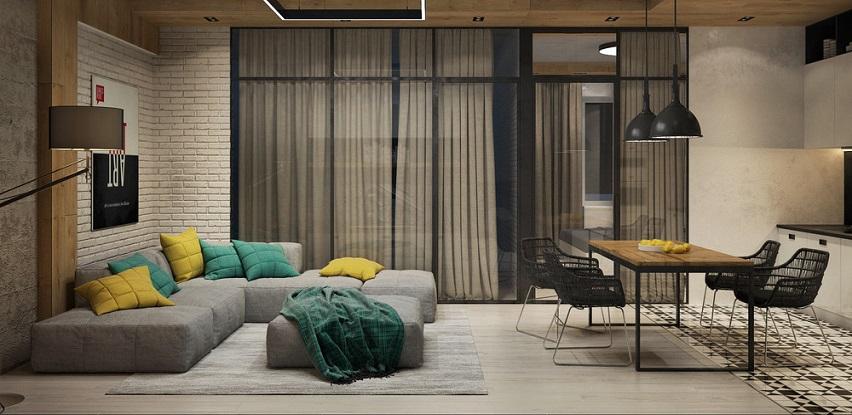 Betonski studio apartmani - ideje i inspiracija