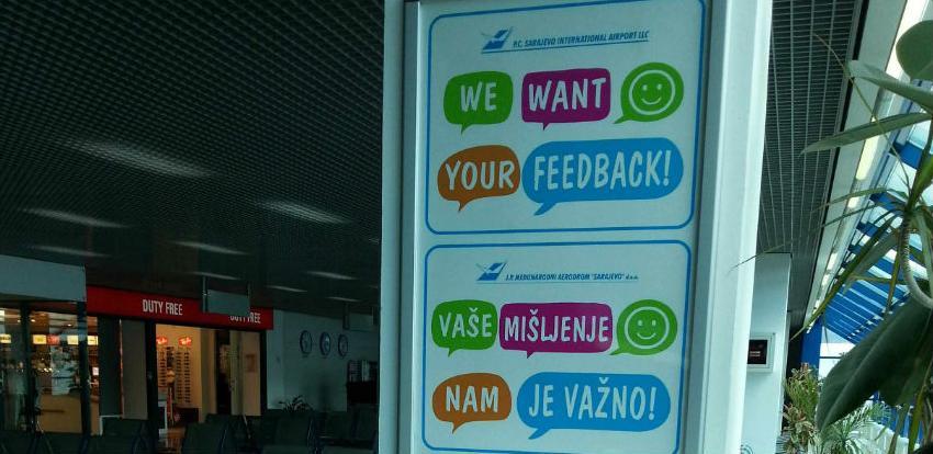 Međunarodni aerodrom Sarajevo provodi anketu Ocjena zadovoljstva putnika