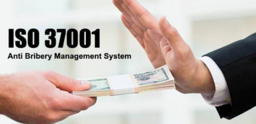 Uvođenje ISO 37001:2016 Sistemi menadžmenta protiv mita i korupcije