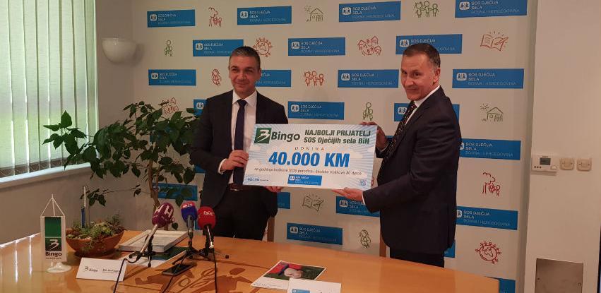 Donacijom od 40.000,00 KM Bingo pokrio godišnje troškove SOS porodice