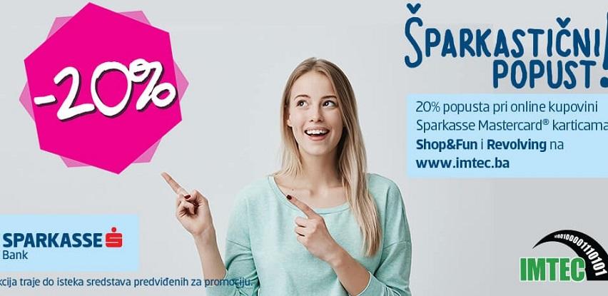 Sa Sparkasse Mastercard kreditnim karticama do popusta od 20% na Imtec web shopu