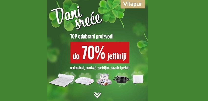 Dani sreće u Vitapuru: izaberi proizvode do 70% JEFTINIJE