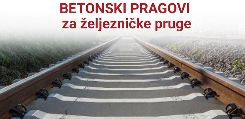 Babić Jablanica: Betonski pragovi za željezničke pruge